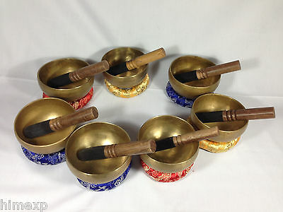 10 Cm Tibetan handmade 7 Metal 7 Bowl in a set for wholesale Buyers