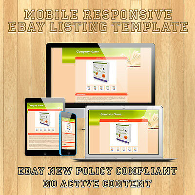 100% Mobile Responsive eBay Auction Listing Template HTML for Nature & Beauty