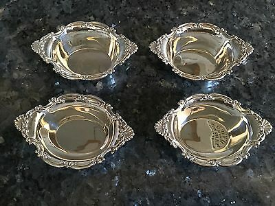 Birks Solid Silver Nut Dishes Set Of Four With Bag - fully hallmarked