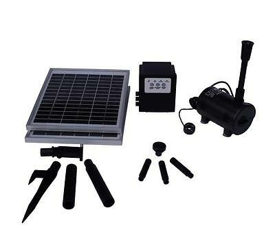 20W 1550LPH Solar Panel POND WATER FOUNTAIN Feature SOLAR PUMP Battery Timer LED