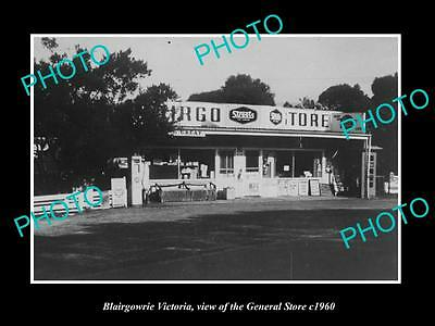 Old Large Historic Photo Of Blairgowrie Victoria, View Of The General Store 1960
