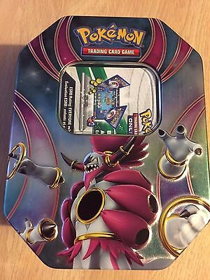MINT Hoopa Powers Beyond Tin (empty) & Online Code - Pokemon Trading Card