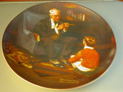 "Norman Rockwell Heritage Collection ""The Tycoon"" Knowles 8"" Collector's Plate"