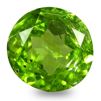 3.57 ct Valuable 9 mm Round Shape Un-Heated Green Peridot Natural Gemstone