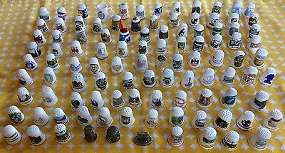 Massive Thimble Collection - Mainly China - Some Metal - X105 Thimbles