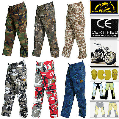 Men's Motorbike Camo Trousers Pants Reinforced with DuPont™ Kevlar® fiber
