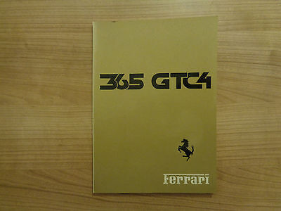 Ferrari 365 GTC4 Owners Handbook/Manual