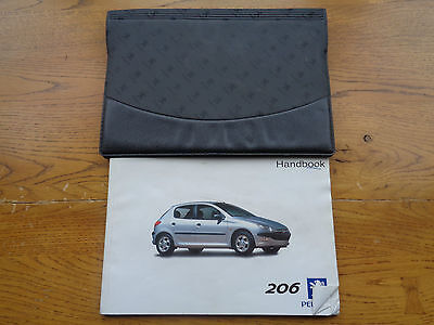 Peugeot 206 Owners Handbook/Manual and Wallet 98-02