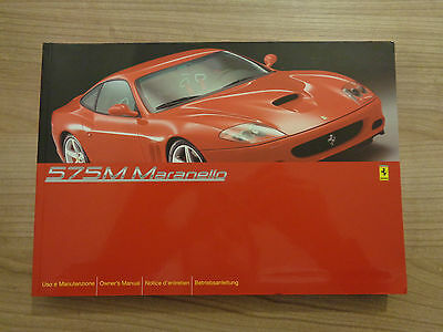 Ferrari 575M Maranello Owners Handbook/Manual