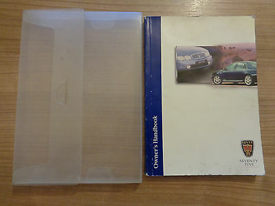 Rover 75 Owners Handbook Manual and Wallet 99-04