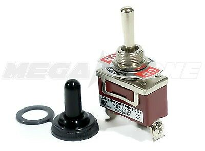 Heavy Duty 20A/125V SPDT Momentary (On)-Off-(On) Toggle Switch w/Waterproof Boot