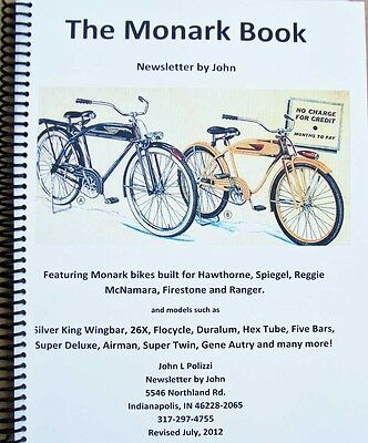 MONARK BICYCLE antique bike HISTORY BOOK REVISED EDITION