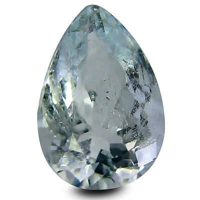 2.77 ct AAA Excellent Pear Shape (11 x 8 mm) Blue Aquamarine Natural Gemstone