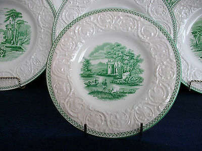 WEDGWOOD TORBAY GREEN (c.1929-1930's)  BREAD AND BUTTER PLATE(s)- EXCELLENT!