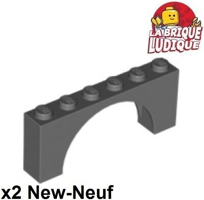 Lego 2x Brique Brick Arche Arch inverted 1x5x4 noir//black 30099 NEUF
