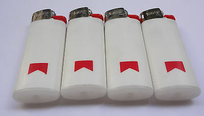 Lot 4 Vintage MARLBORO Bic Lighters NEW Old Stock Made in Spain # Free Shipping