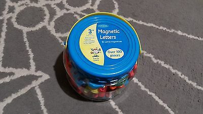 111 Pcs In Tub Magnetic Alphabet Letter Maths Numbers Magnets