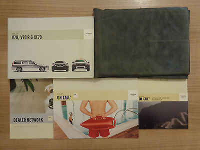 Volvo V70/V70R/XC70 Owners Handbook/Manual and Wallet 04-07