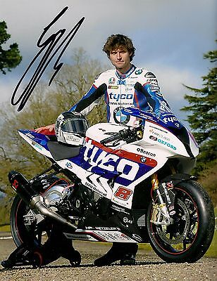 Guy Martin - 2015 Isle of Man TT Autographed 10 x 8 inch BMW Photograph.