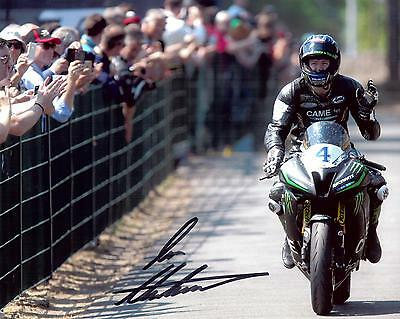 Ian Hutchinson 2016 Isle of Man TT signed winners image 10 x 8 picture & cert.