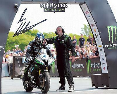 Ian Hutchinson 2016 Isle of Man TT signed start line 10 x 8 picture & cert.