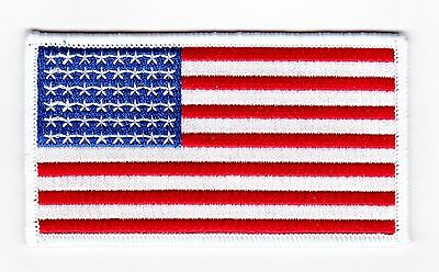 AMERICAN FLAG 2x4 SEW ON IRON PATCH EMBROIDERED PETERBILT MACK DIESEL TRUCK USA