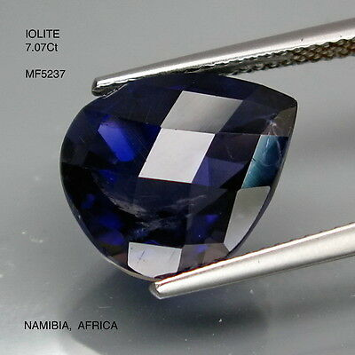 IOLITE BEAUTIFUL NATURAL MINED  GEMSTONE LARGE 7.07Ct  MF5237