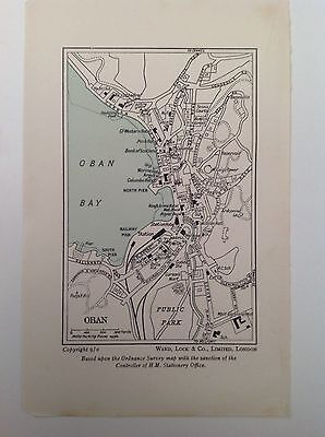 Oban, c1950 Antique Street Map, Scotland, Bartholomew, Atlas