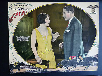 1925 Wildfire - Lobby Card Signed By Aileen Pringle - Horseracing - Silent