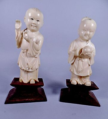 Antique Chinese Hand Carved Cultural Revolution Children