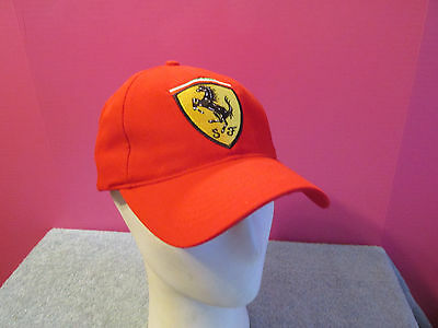 Ferrari HAT car Auto Racing Baseball Cap Red adjustable embroidered logo New