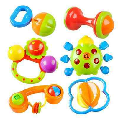 Baby Toy Rattle Set Teether Infant Toys Teething Toddler Nursery Hand Bell