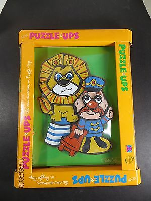 Vintage Rainbow Crafts Puzzle Ups Circus Time Wood Puzzle Sealed