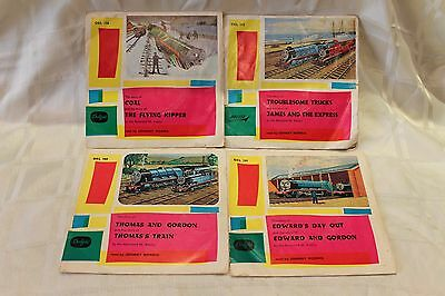 Vintage Thomas The Tank Engine Story Records read by Johnny Morris, 4 Records