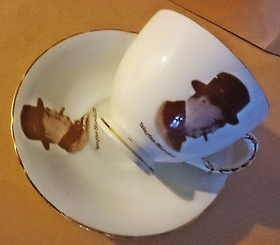 vintage Winston Churchill cup and saucer HM Sutherland China