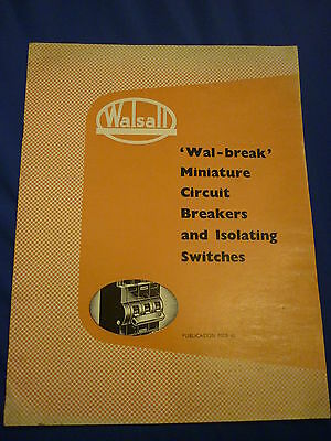 Walsall Wal Break Miniature Circuit Breakers Isolating Switches Catalogue Mcb 60