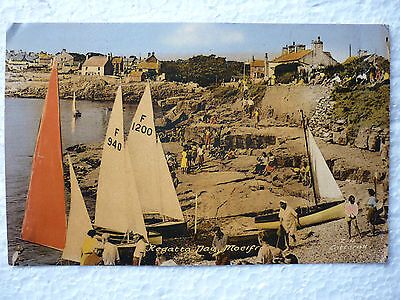 Regatta Day Moelfre Anglesey Postcard - Postmarked May 1959 (Newmarket Norwich)