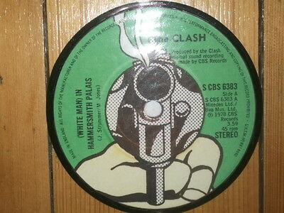 The Clash White Man In Hammersmith Palais Display 'picture Disc'