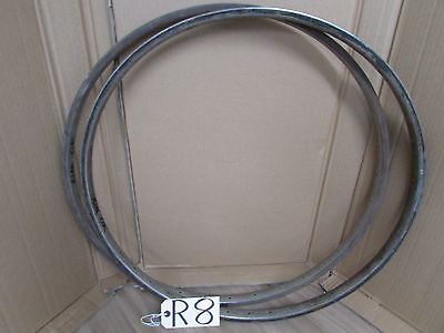 PAIR OF DUNLOP 26 X 1 3/8ths 590 STEEL RIMS, STRAIGHT AND TRUE  CHROME POOR (R8)