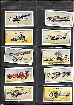 Player's - Aeroplanes (Civil) - 1935 - Full Set Of Reproduction Cards