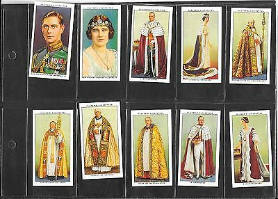 Player's - Coronation Series (Ceremonial - 1937 - Full Set Of Reproduction Cards