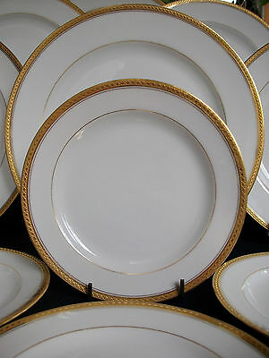 HAVILAND LIMOGES-BREAD PLATE(s)- ENCRUSTED DIAMOND GOLD BAND- EXCELLENT!! MINT!!