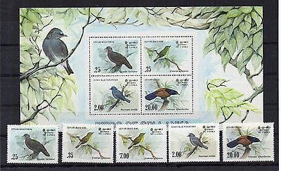 SRI LANKA 1983 Birds.  Mint Never Hinged. SG827-30 and MS831