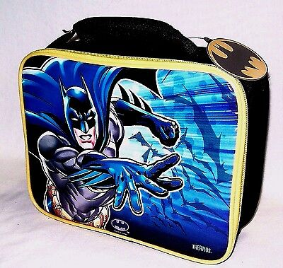 NWT BATMAN Soft Insulated Lunch Box Bag Kit Tote Lunchbox THERMOS Brand PVC Free