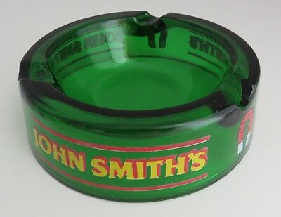 Vintage John Smith's 5 1/2 Inches Green Glass Ashtray   (Inv1441)