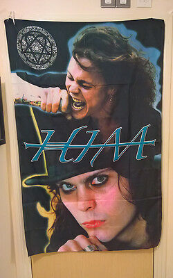 HIM Band Flag Ville Valo Heartagram Love Metal Poster Textile RARE