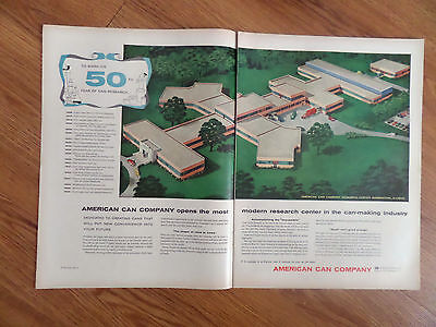 1955 American Can Company Ad Research Center Barrington Illinois