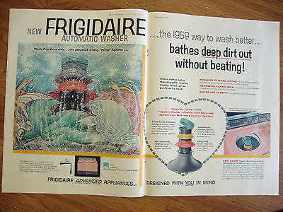 1958 Frigidaire Appliance Automatic Washer Dryer Ad