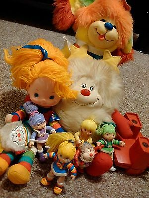 Vintage Rainbow Brite collection Toy Figures Dolls Puppy, Shy Violet viewmaster