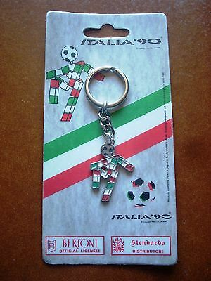 Deadstock Italy 1990 World Cup Official Keyring Football Fan Ciao Mascot Germany